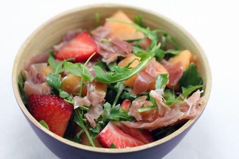 Melon-Arugula Salad Recipe — Dishmaps