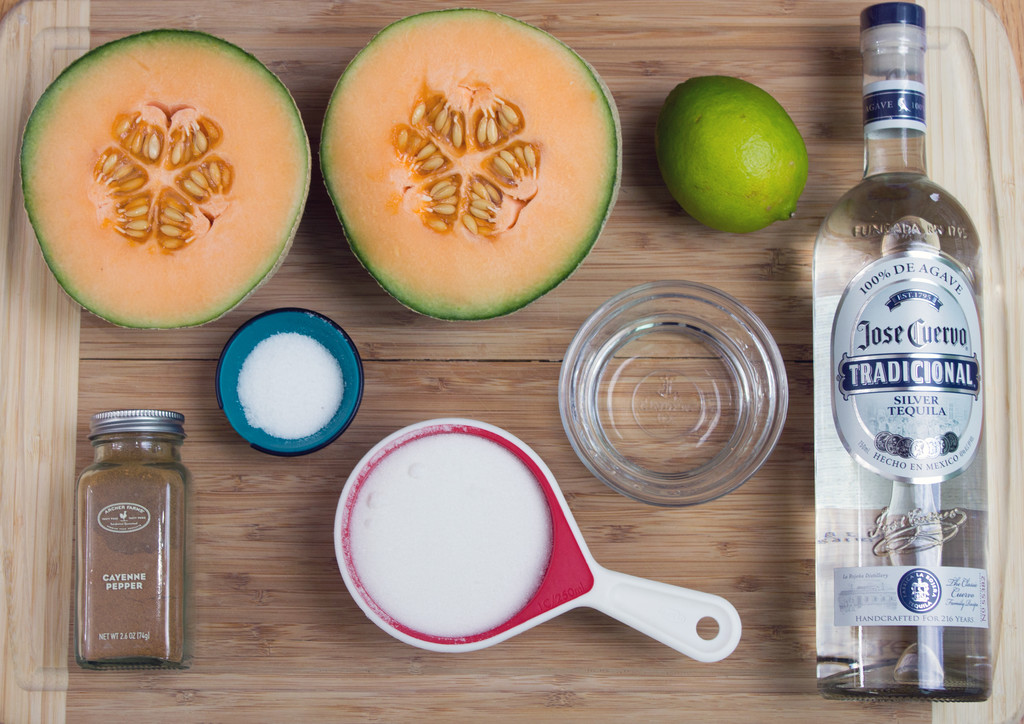 Cantaloupe Lime Margarita Ingredients