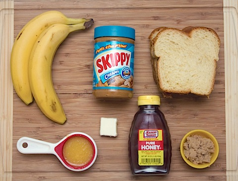 Caramelized Banana and Peanut Butter Sandwich Ingredients.jpg
