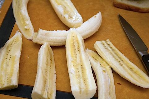 Caramelized Banana and Peanut Butter Sandwich Sliced Bananas.jpg