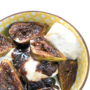 Caramelized Figs -- When you're not eating these caramelized figs out of the bowl, they make the perfect ice cream topping! | wearenotmartha.com