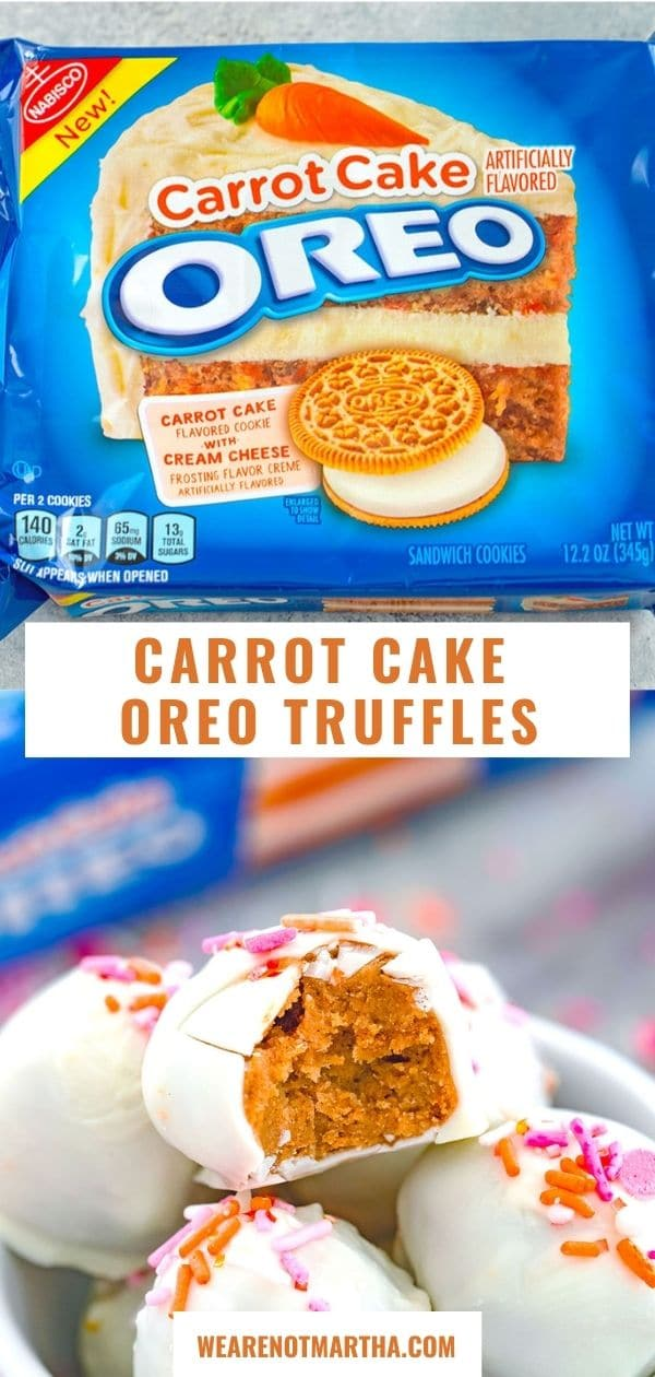 Carrot Cake Oreo Truffles