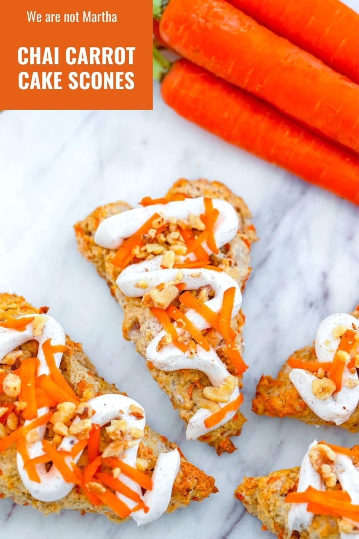 Chai Carrot Cake Scones