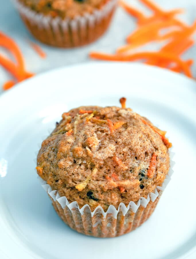 Carrot Raisin Muffins -- These Carrot Raisin Muffins make the perfect grab-and-go breakfast that is both healthy and delicious! | wearenotmartha.com
