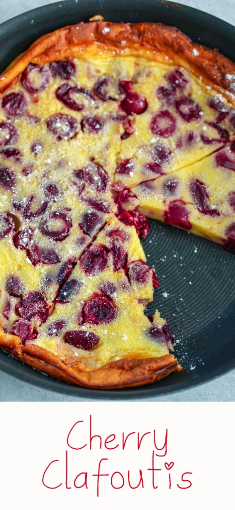 Cherry Clafoutis -- If you've never made clafoutis before, start with this cherry clafoutis to learn how deliciously easy it is! A cross between a cake and a custard, clafoutis makes a dreamy dessert, but can also be served for breakfast | wearenotmartha.com