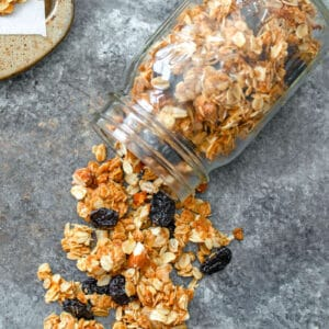 There's not much better than homemade granola and this Cherry Vanilla Granola is both easy to make and absolutely delicious on yogurt, ice cream, or all on its own!