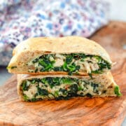 These Chicken and Spinach Calzones are incredibly easy to make, a little bit healthier than the average calzone, and packed with delicious flavor!
