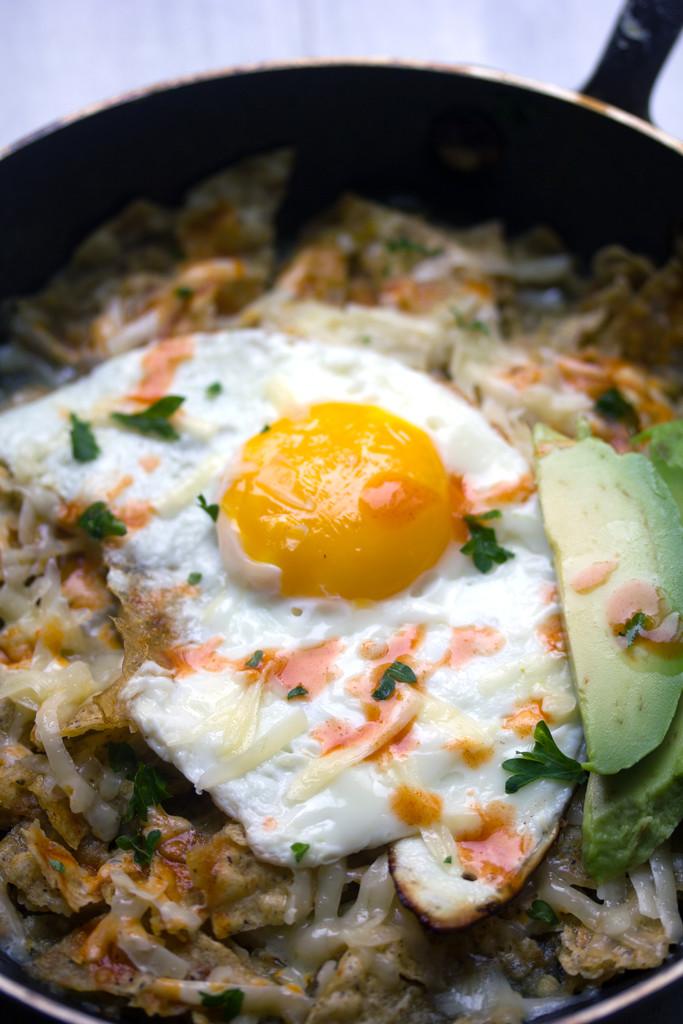 Chilaquiles Verde con Huevo 4