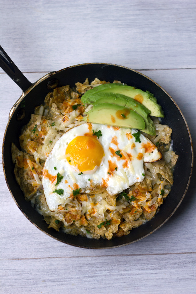 Chilaquiles Verde con Huevo 8