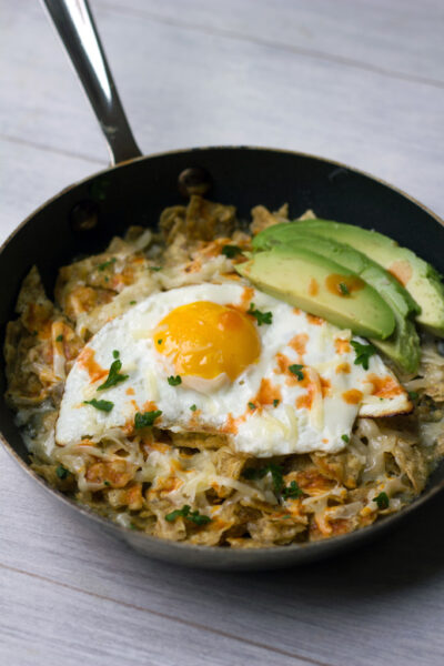 Chilaquiles Verde con Huevo 9
