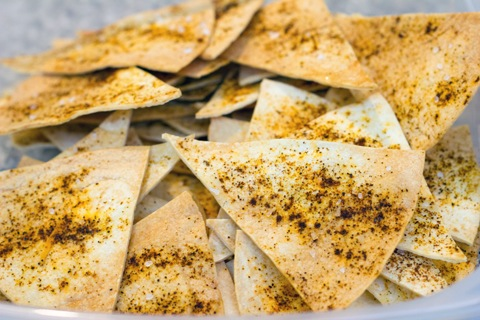 Chile Dusted Tortilla Chips Baked 2.jpg