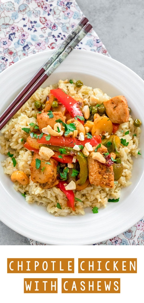 Chipotle Chicken with Cashews