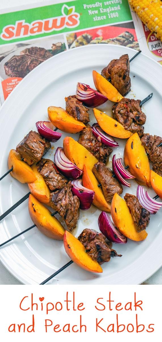 Chipotle Steak and Peach Kabobs