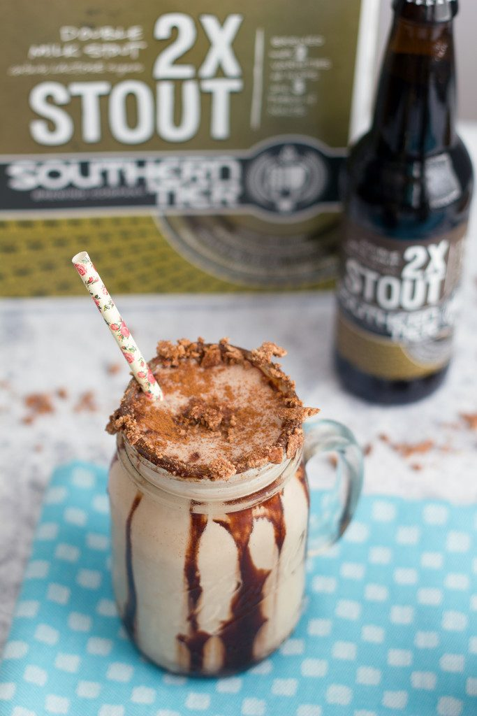 Chocolate Cinnamon Toast Crunch Stout Milkshake- cereal, chocolate, beer, and ice cream all in one drink | wearenotmartha.com