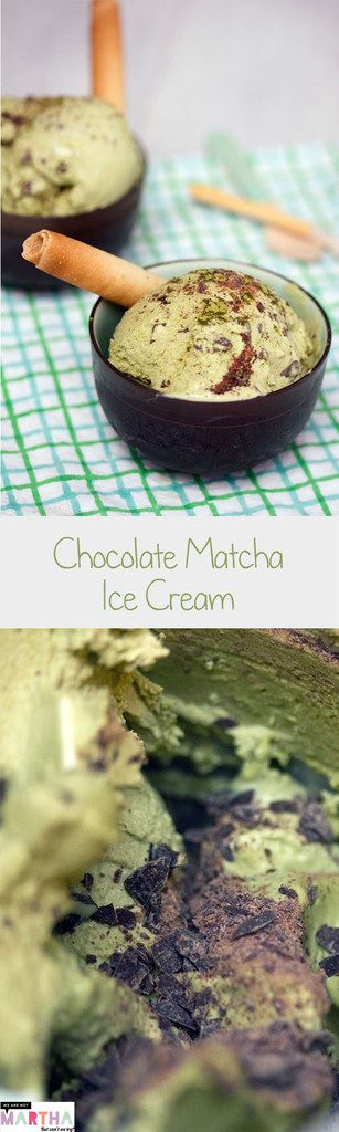 Chocolate Matcha Green Tea Ice Cream -- A refreshing ice cream packed with flavor and antioxidants! | wearenotmartha.com