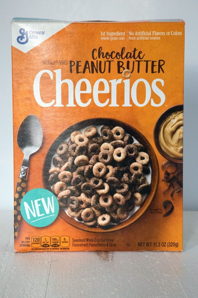 Chocolate Peanut Butter Cheerios | wearenotmartha.com