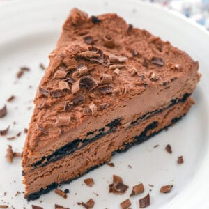 This Chocolate Ricotta Cake is a no-bake dessert that can be prepared up to two days in advance. It's incredibly rich and creamy and will delight any chocolate fan!
