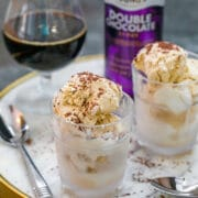 Chocolate Stout Ice Cream -- If you're a beer lover, you need to try this Chocolate Stout Ice Cream! And if you're not a beer drinker? You still need to try it because I'm almost positive it will make you fall in love with chocolate stout | wearenotmartha.com #icecream #chocolatestout #beer #beericecream