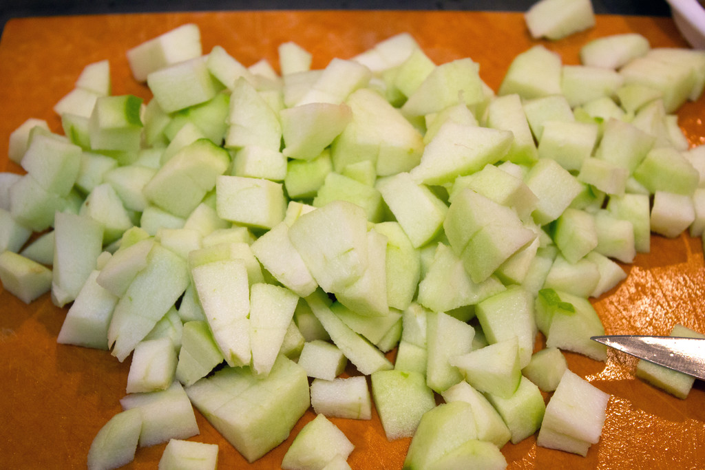 Chopped Granny Smith Apples