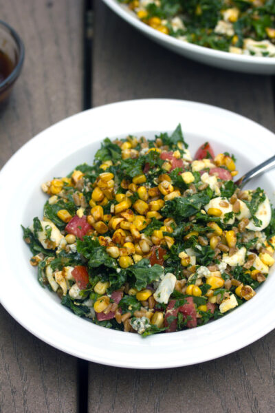 Chopped Kale and Farro Salad