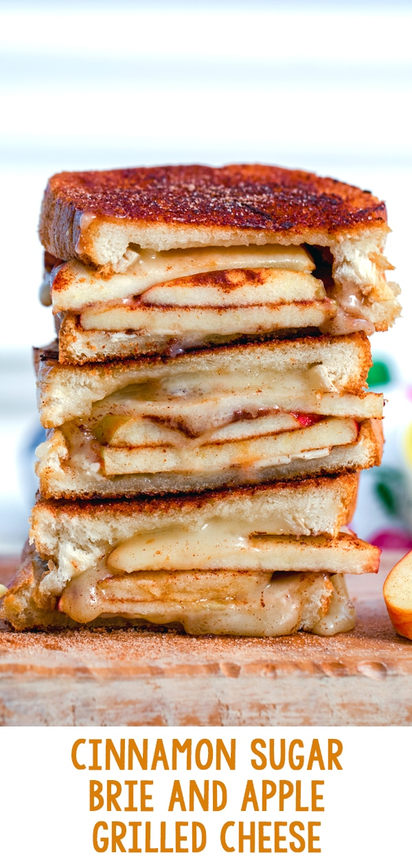 Cinnamon Sugar Brie and Apple Grilled Cheese