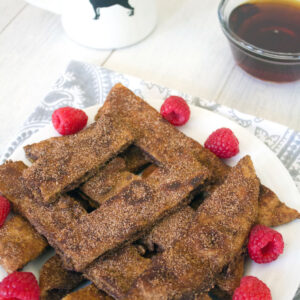 Cinnamon Sugar Naan French Toast Sticks