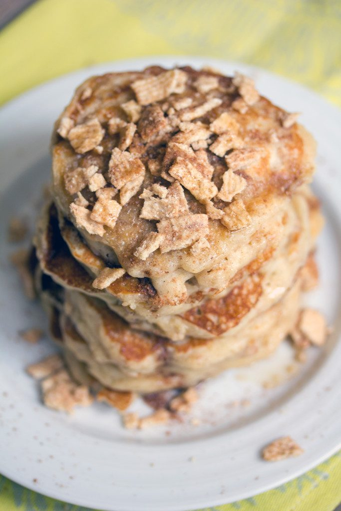 Cinnamon Toast Crunch Pancakes -- The best way to enjoy cereal for breakfast | wearenotmartha.com
