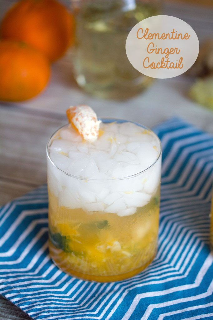Clementine Ginger Cocktails | We are not Martha