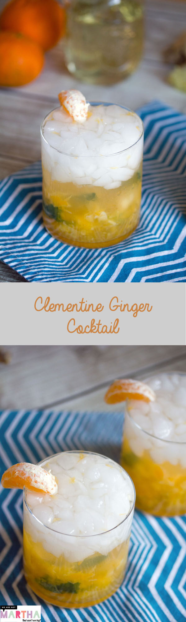 Clementine Ginger Cocktail -- Take advantage of winter citrus with ...