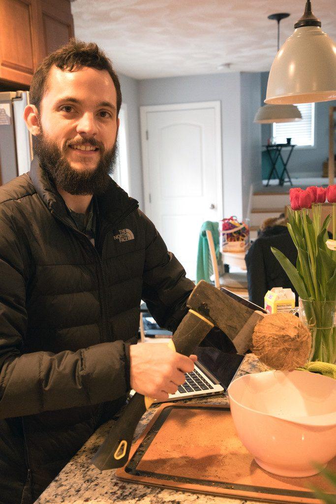 Opening a Coconut | wearenotmartha.com