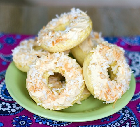 Coconut Salted Caramel Doughnuts
