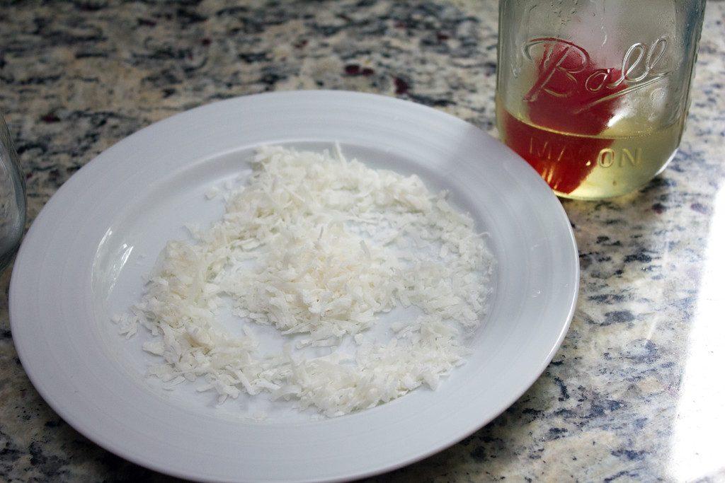 Coconut Rim Glass | wearenotmartha.com
