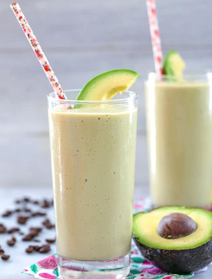 Coffee Avocado Milkshake -- You might think using avocado in a milkshake sounds strange, but this coffee avocado milkshake is the creamiest, most delicious way to get your morning caffeine boost | wearenotmartha.com