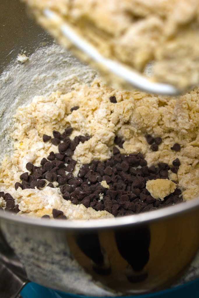 Cookie Batter with Mini Chocolate Chips