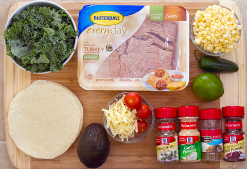 Corn and Kale Turkey Tacos Ingredients.jpg