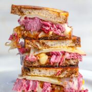 These Corned Beef Melts are the perfect solution to your St. Patrick's Day leftovers. But they're so delicious, they'll have you making corned beef just so you can enjoy these sandwiches!