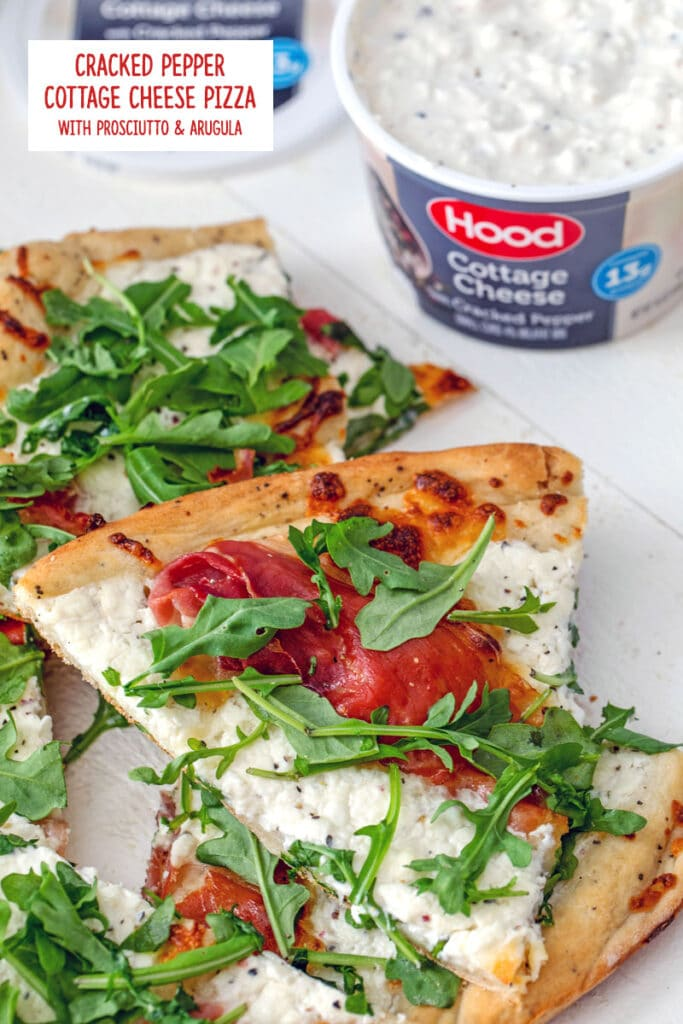 Cracked Pepper Cottage Cheese Pizza With Prosciutto And Arugula