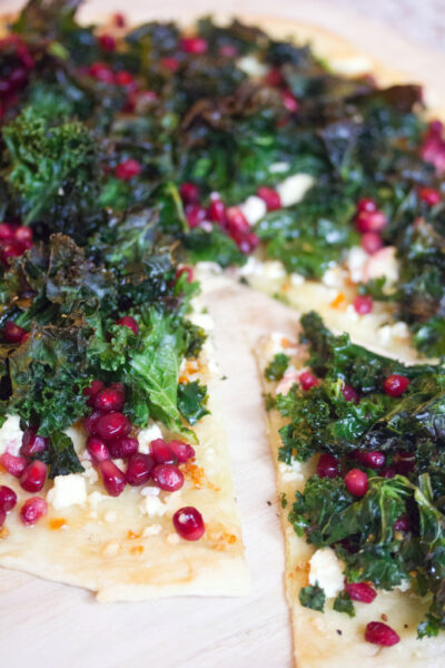 Crispy Kale, Habanero, and Pomegranate Flatbread