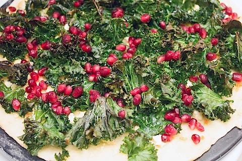Crispy Kale, Habanero, and Pomegranate Flatbread Dough Rolled Kale Poms.jpg