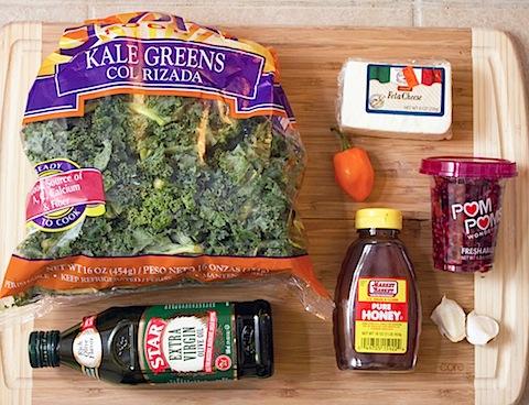 Crispy Kale, Habanero, and Pomegranate Flatbread Ingredients.jpg