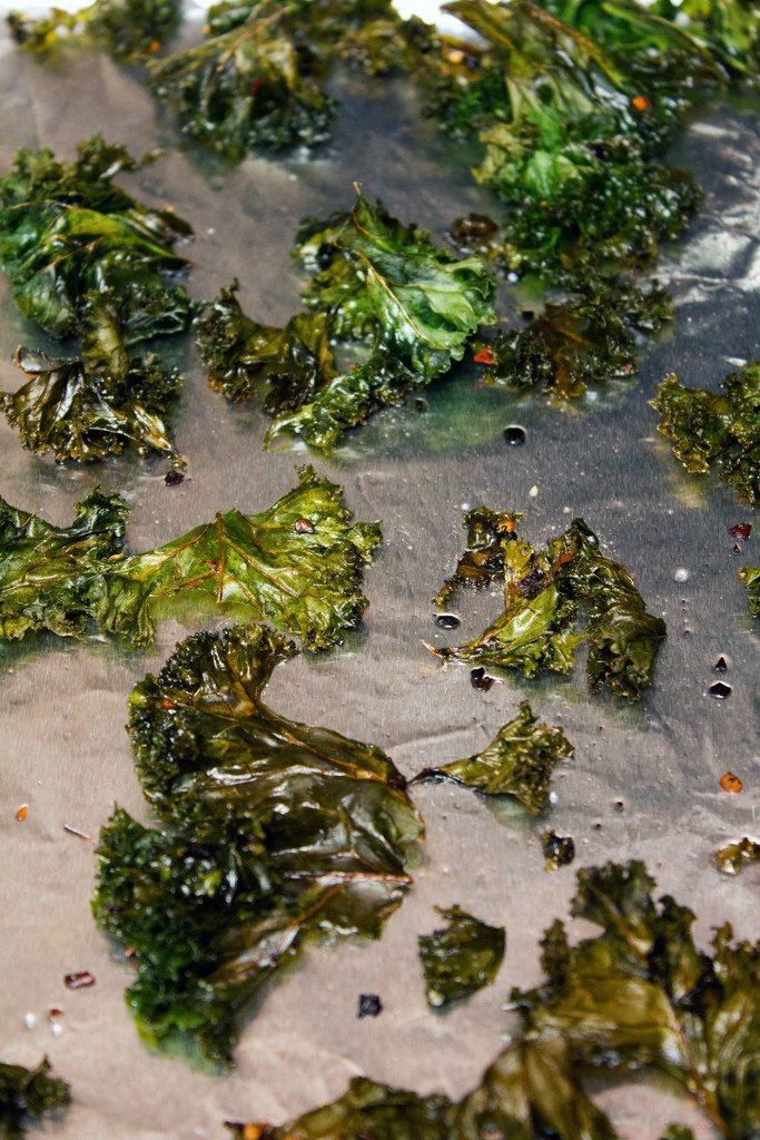 Crispy Baked Kale | wearenotmartha.com