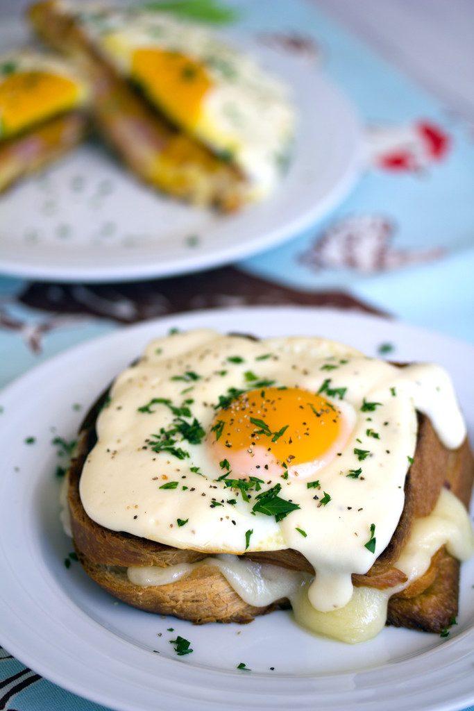 Croque Madame -- The ultimate breakfast: Thomas Keller's Croque Madame. AKA ham and cheese sandwich with mornay sauce   wearenotmartha.com
