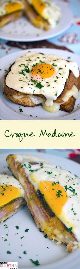 Croque Madame -- The ultimate breakfast: Thomas Keller's Croque Madame. AKA ham and cheese sandwich with mornay sauce | wearenotmartha.com