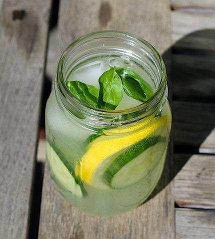 Cucumber Lemonade with Basil
