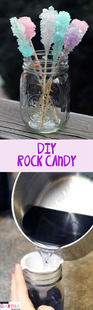 Homemade Rock Candy -- A fun family DIY | wearenotmartha.com