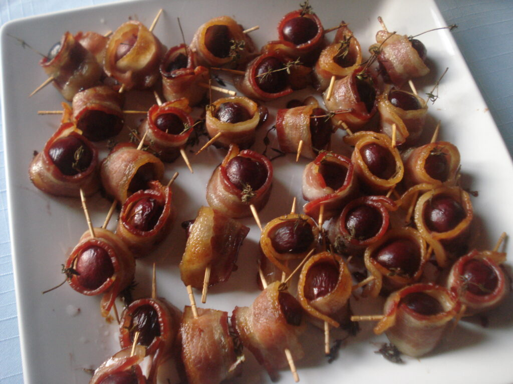 bacon wrapped cherries