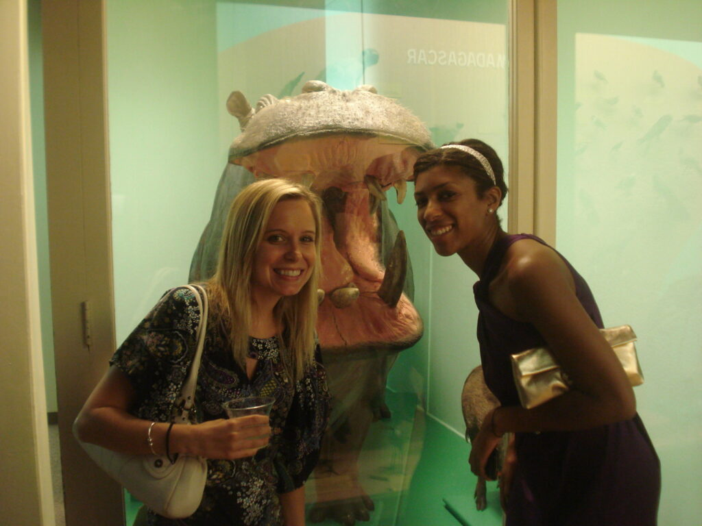 with the hippo!