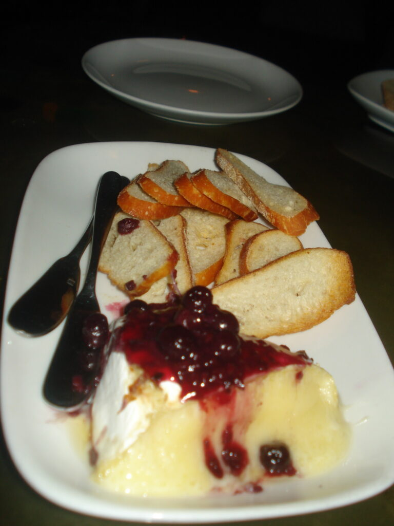 warm brie with mixed-berry chutney