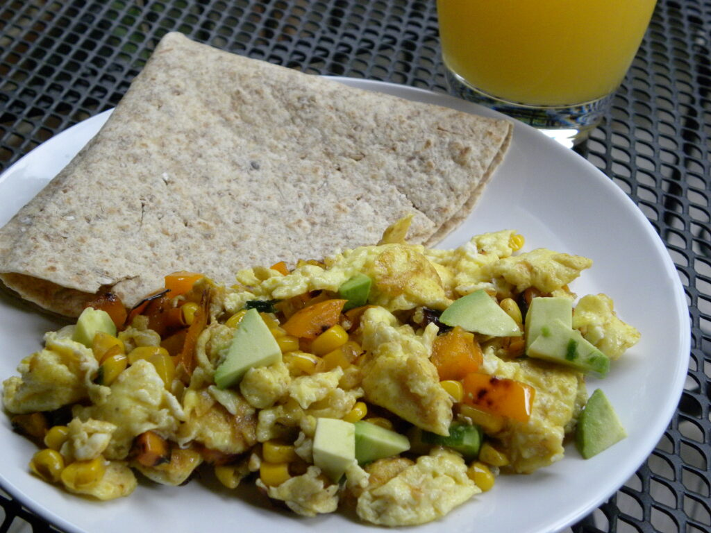 Southwest Egg Scramble (I love eggs... and family time too!)