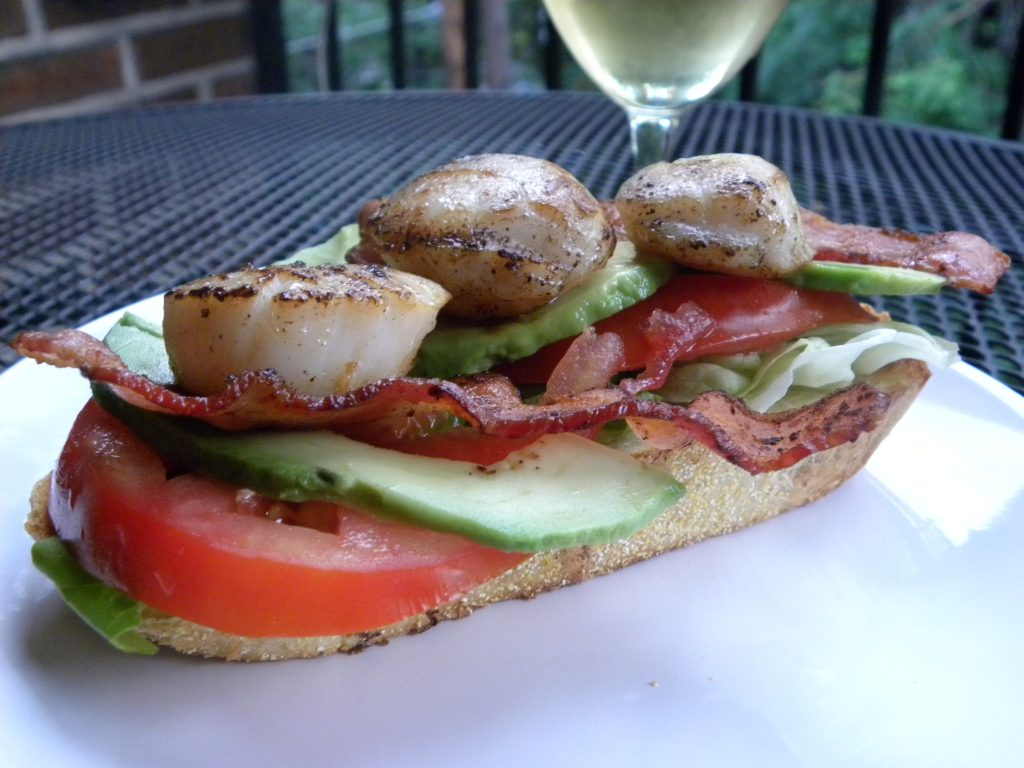 blt with pan seared scallops
